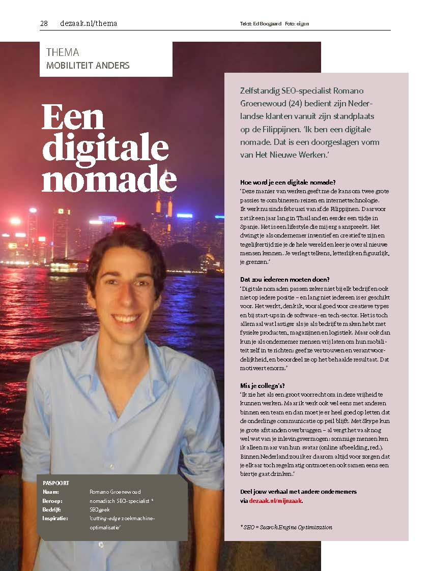 De Zaak Interview (Digitale Nomade)