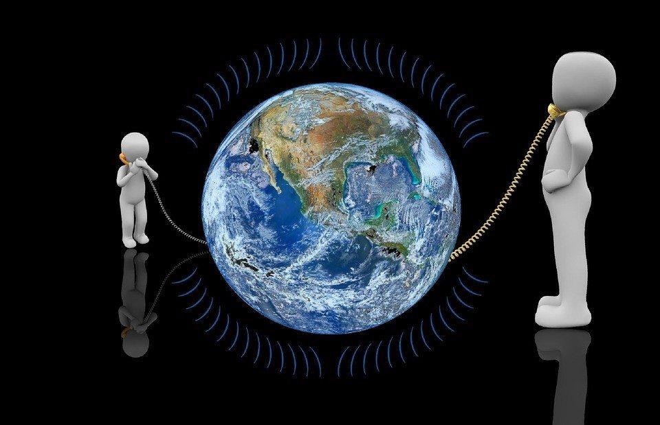 Telefoon aan de aarde
