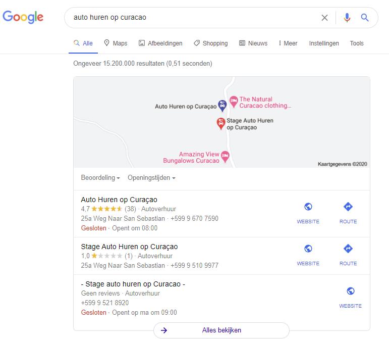 Bovenaan Google lokaal