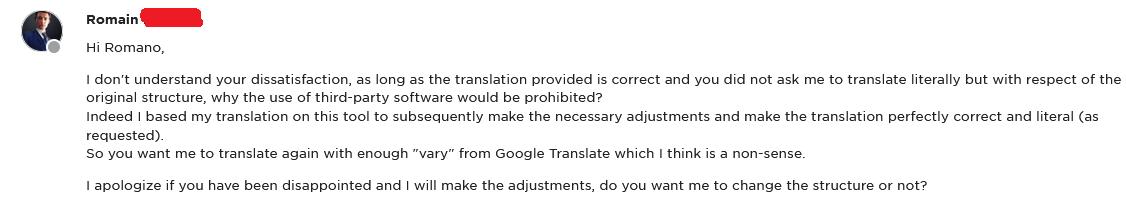 Freelance vertaler op Upwork